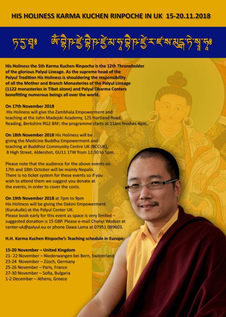 Palyul Center UK | Nyingmapa Tibetan Buddhist Center
